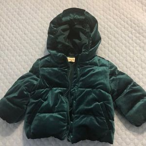 Gymboree green velvet jacket